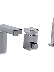 Three Holes One Hand Bathtub Faucet