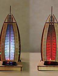 hôtel de voile 3 d articles d'ameublement en bois bricolage éducation précoce de puzzle pour enfants assemble peinture jouet led lampes
