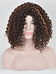 synthétique de la mode des perruques multicolores perruques synthétiques de style bouclés
