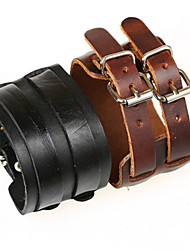 Men's Wide Leather Bracelet Jewelry (27.5*5cm)