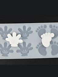 8 Hole Baby's Hands and Feet Shape Chocolate Plugin Mold for Cake Decoration Baking Mold Silicone Material