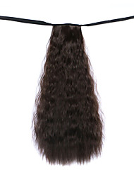 Black Deep Wave Lace Wig Corn Hot Ponytails 8A