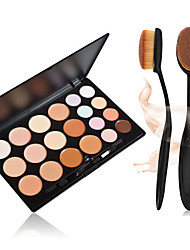 20 Farben Kontur Gesichtscreme Make-up Concealer Palette + + 1pcs Meister oval Make-up-Pinsel