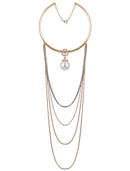 LGSP Women's Alloy Necklace Daily Imitation Pearl-61161075