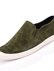 Men's Shoes Casual Leather / Suede Loafers Brown / Green