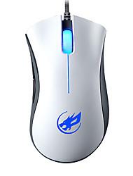 lobo guerra 4d com fio do mouse jogos de luz respiração retroiluminado para lol / cf / dota