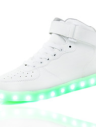 2016 New Arrival LED Shoes High LED light luminous shoes USB charging Best Seller High Top Basket Fashion Sneakers Black / White / Red