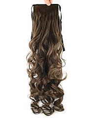 el color del cable peluca castaña oscura cola de caballo 55cm alta temperatura sintética pearvolume longitud 8