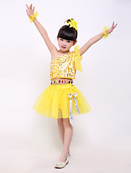 Performance Outfits Children's Performance Spandex / Polyester Cute Bow(s) / Tiers Dance Costumes