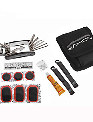 SAHOO® 21042 Bike Bicycle Tyre Repairing Tool Multifunctional Repair Tools With Tools Pocket Bags 3 Colors