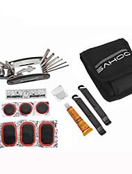 sahoo® pneu de bicicleta 21042 bicicleta reparação ferramenta multifuncional ferramentas de reparo com sacos de ferramentas de bolso 3