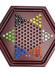 Royal St. Checkers Draughts Glass Ball Court Checkers Draughts Parent-Child Chess Games With Wood Big