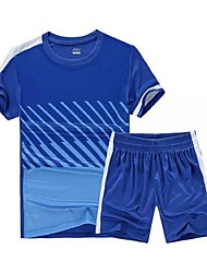 Men's Soccer Shirt+Shorts Clothing Sets/Suits Breathable Quick Dry Spring Summer Fall/Autumn Winter Classic TeryleneExercise & Fitness