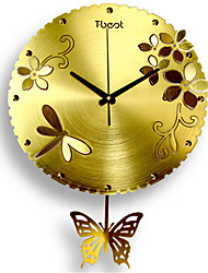 Butterfly Flower Wall Clock