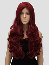 Women Long Body Wave Red Color Top Quality Synthetic Wig