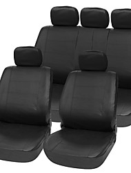 Universal 11 pcs PU Car Seat Cover Set Black Surface PU Complex Fabric Car Styling Accessories Car Care