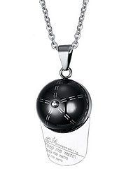 Necklace Pendant Necklaces / Pendants Jewelry Daily / Casual Fashionable Stainless Steel Silver 1pc Gift