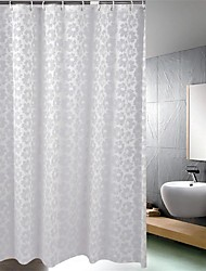 "Shower Curtain, Baroque Style Gray Flower Print Thick Fabric Water-resistant W71"" x L78"""