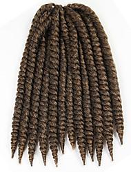 Гавана / Вязаные Спиральные плетенки Наращивание волос 14 Inch Kanekalon 12 нитка 80g грамм косы волос