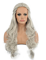 Europe and the United States Wig Silver-White Hair Modelling Cosplay Wig.