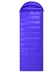 Sleeping Bag Rectangular Bag Single 5°C Duck Down 700g 210X70 Camping Breathability / Cold Weather / Flannel lined Yunyi