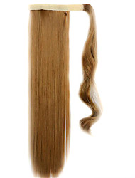 Brown 60CM Synthetic High Temperature Wire Wig Straight Hair Ponytail Color 27J