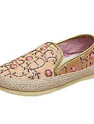 Women's Comfort Canvas Casual Flat Heel Black / Pink / Gold