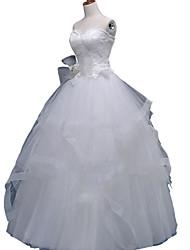 Vestido de Noiva-Linha A Coração Longo Tule