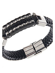 Cool Man Silicone Bracelets Titanium Steel Charm Design Bangles for Men