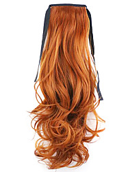 Red Length 50CM Factory Direct Sale Bind Type Curl Horsetail Hair Ponytail(Color 119)