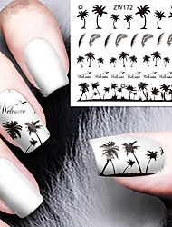 Sticker Nail Art Nail Decalcomanie trasferimento di acqua