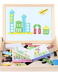 quebra-cabeça educação precoce das crianças, brinquedos educativos blocos de madeira, bloco de notas crianças inteligência, magia