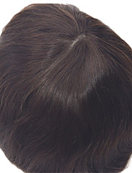 "8""x10""Men's Toupees Natural Straight Hair Colour 1B In Stock The Skin Base Toupees"