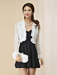 Wedding / Party/Evening Polyester Shrugs Long Sleeve Hollow Out Lace Women's Wrap