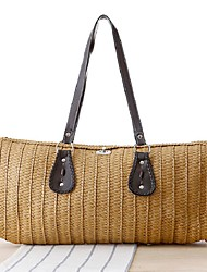 STYLE-CICIWomen-Casual-Straw-Shoulder Bag-Beige / Blue / Green / Brown