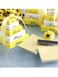 Recipient Gifts Lemon yellow memo notepad Wedding Favors, Bridal Shower Favors, Bridesmaids Door Gifts