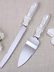 Stainless Steel Garden Theme Serving Set With Rhinestones