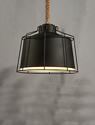 Max 60W Vintage Style hemp rope Pendant Lights Living Room / Bedroom / Dining Room / Kitchen / Study Room