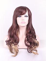 best-seller de l'Europe et les États-Unis une perruque brune de couleur mélangée cheveux bouclés perruque