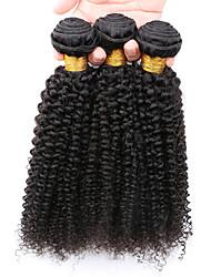7A Kinky Curly Virgin Hair 3 Bundles/Lot, Cheap Unprocessed Mongolian Kinky Curly Hair Human Hair Bundles