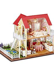 diversión chi casa choza bricolaje cabaña de la princesa de la mano modelo montado casa dones creativos para enviar a las niñas regalo del