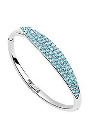 Bracelet Manchette Alliage Cristal Femme