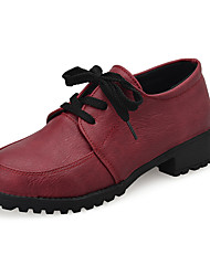 Women's Shoes  Low Heel Closed Toe Oxfords Casual Black / Red