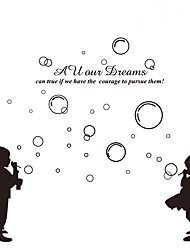 Children's Bedroom DIY Blow Bubbles Wall Stickers