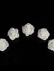 Abrazadera del tornillo de la flor del pelo del plato caliente abrazadera diamante-incrustada del pelo de la tiara del diamante del corchete 10pcs