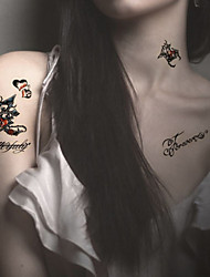 Fashion Temporary Tattoos Love Sexy Body Art Waterproof Tattoo Stickers 5PCS  (Size: 3.74'' by 6.69'')