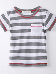 Girl's Striped Tee,Cotton Summer Pink
