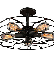 Loft Vintage Creative Lighting Lamps American Country Style Minimalist Personality Iron Industrial Fan Chandelier