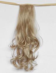 волна воды серебристо-серый синтетический тип повязка парик волос хвостик (цвет 22)