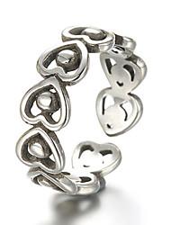 Bagues pour Première Phalange Anneaux Argent sterling Forme de Coeur Mode Ajustable Argent Bijoux Quotidien Décontracté 1pc